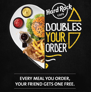 Hard Rock Cafe #DoubleYourOrder